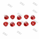 FSN013 M5 Aluminum Serrated Flanged Nylon Insert Lock Nuts for RC drones/ Multicopters,10pcs/lot