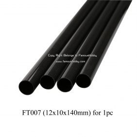 Wholesale FT007 12x10x140mm fiber materil carbon composite/carbon glass Fiber tubes/pipes/strips finish gloss