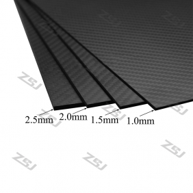 Wholesale 500x600x4.0mm Twill matte pure carbon fiber plate