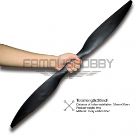 Wholesale New Upgrading 30 inch Toray Carbon Fiber Propellers for RC drone/Multicopter 1pair/pc